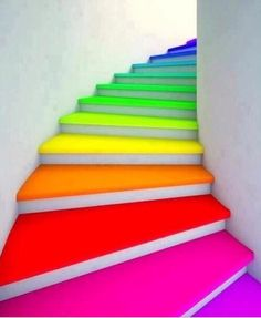 Bright Colored Steps