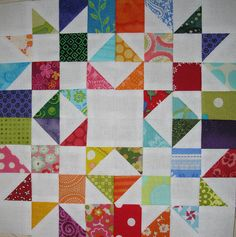 Cool pointy star quilt!