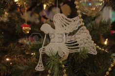 Free, online christmas crochet patterns Angels Miscellaneous Christmas/Holiday Items Ornaments Snowflakes Stockings