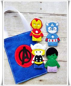 Avengers Finger Puppets with Storage by SprinklesandMuchMore
