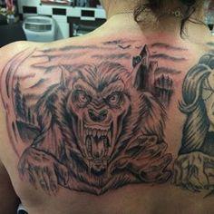 Custom Werewolf tattoo