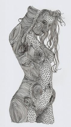 Curves XIII by Louis-Art.deviantart.com on @deviantART Lucio Bjordoni is from Italy he was born 1989. He majored in illustration and printmaking. I like how he used lines to show the highs and lows of the body. Also the closer the lines are the more detail the image has.