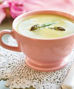 Asparagus is a fine ingredient of delicious goodies. Soup Recipes, Recipies, Cooking Recipes, My Cookbook, Asparagus, Tea Cups, Food And Drink, Veggies, Favorite Recipes