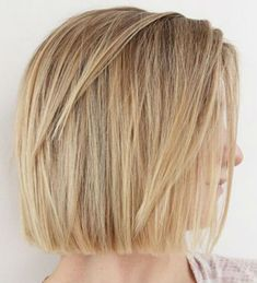 Simple But Significantly Classy Blunt Bob Haircuts for Girls and Women Not To Miss Out Short Hair With Layers, Short Hair Cuts, Short Hair Styles, Pixie Cuts, Blunt Haircut With Layers, Pixie Bob, Bob Styles, Short Pixie, Blonde Bobs