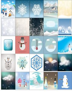 Free Printable-25 Winter Stickers For Your Happy Planner or Erin Condren Planner