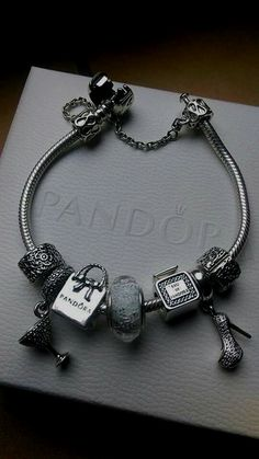 c372a4ff5 >>>Pandora Jewelry OFF! >>>Visit>> We love this fun yet chic  shopping-themed bracelet!
