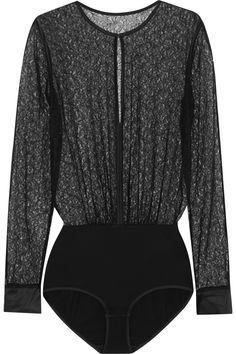 Eres Batignolles Honoré stretch-Leavers lace and stretch-jersey bodysuit  NET-A-PORTER.COM