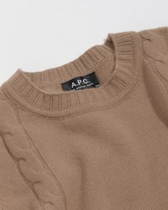 A.P.C. Camel Pull Angelica in Brown | The Dreslyn Apc, Parisian, Pullover Sweaters, Camel, Ready To Wear, Cashmere, Denim, Brown, How To Wear