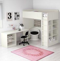 asoral hochbett loft xl liso mit treppe schreibtisch 4 stauraum schubladen h he 191cm. Black Bedroom Furniture Sets. Home Design Ideas