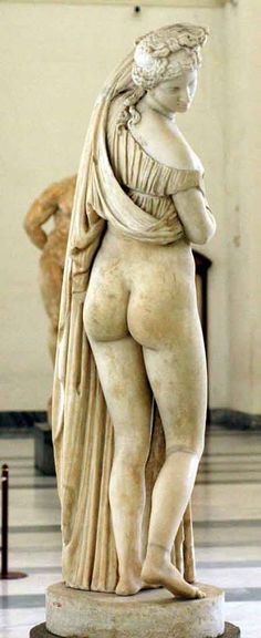 """the Aphrodite Kallipygos"" or ""the Callipygian Venus"", marble statue from Ancient Roman, circa 1st or 2nd c. BC - at the Museum of Naples"