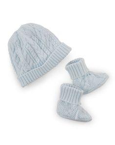 Cotton Hat & Booties Set - Baby Boy New Arrivals - RalphLauren.com