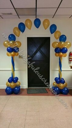 Royal blue and gold arch