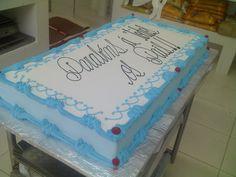 Birthday Sheet Cakes, Birthday Cake, Baby Boy Christening Cake, Congratulations Cake, Sheet Cake Designs, Wedding Anniversary Cakes, Cake Decorating Designs, White Wedding Cakes, Cakes For Men