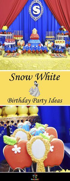 Snow White themed Girls Birthday party ideas. #snowwhite #partyideas