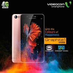 Make your life more joyful with #Videocon Graphite1 V45ED, loaded with EROS Now & Gameloft. To know more, visit - http://www.videoconmobiles.com/graphite1v45ed