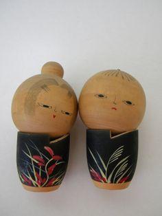 Wooden Japanese Kokeshi Dolls