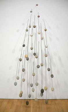 "Mari Andrews Propensitus Gravitas, 2008 at Knoedler & Co., New York, NY, stone, steel, 108 x 34"" overall"