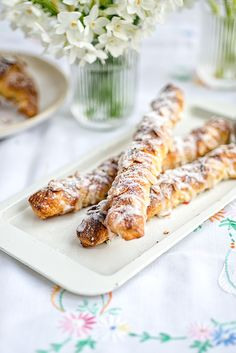Almond croissant twists | Supergolden Bakes Frangipane filling 75g | 2.6oz unsalted butter at room temperature 75g | 2.6oz sugar 75g | 2.6oz ground almonds 1 tbsp plain flour 1 large egg couple drops almond extract or zest of 1 lemon