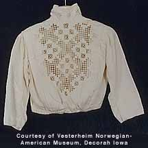 hardanger blouse detail.  Wow, I would be afraid to wear something like this knowing the time put into it.