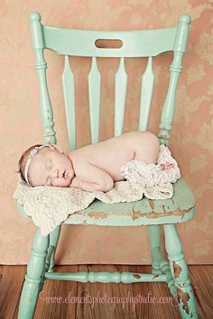 love the rustic chair. so sweet for a country nursery to have a pic on the wall!