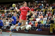 Mara Friton, on September 30th 2006 in Bensheim (Germany), during the Bundesliga match HSG Bensheim/Auerbach - SC Riesa