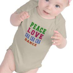 Peace Love Cha cha cha Dance T Shirts