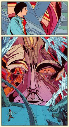 Jewels of Aptor? Kilian Eng, By Kilian, Jean Giraud, Science Fiction, Moebius Art, Define Art, Acid Trip, A Cartoon, Retro Futurism