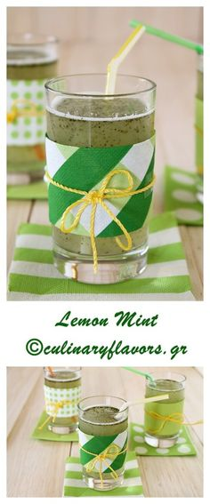 Lemon Mint | A delicious, detox, refreshing beverage with lemon and mint that accompanies perfectly your meal | culinaryflavors.gr | #smoothie #lemonade #mint #beverage #drink #refreshing #lemon