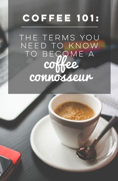 Coffee 101: The Terms You Need To Know to Become a Coffee Connoisseur