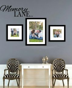 Memory lane... Wall decal. www.vinyldesignshop.com #wall decals #wall stickers