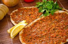 Lahmacun, known as turkish pizza.Try it with ayran (salty yoghurt).Another popular #street food.