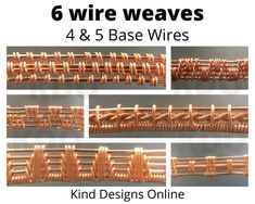 Copper Wire Jewelry, Wire Jewelry Making, Handmade Wire Jewelry, Wire Wrapped Jewelry, Wire Tutorials, Jewelry Making Tutorials, Wirework Jewelry Tutorials, Jewelry Ideas, Wire Weaving Tutorial