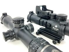 What's the right answer? Fixed magnification, red dot or variable zoom scope? Or maybe a combination like the Burris AR-332 and FastFire 3 on the right?