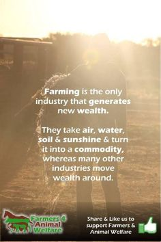 Farming is...