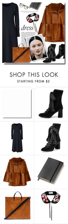 """""""longsleevedresses"""" by bynoor ❤ liked on Polyvore featuring Lands' End, Chloé, Prabal Gurung, Moleskine, Clare V., RED Valentino, Wildfox and longsleeve"""