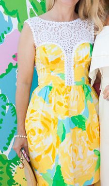 Lilly Pulitzer Raegan Fit & Flare Dress in Sunglow First Impression