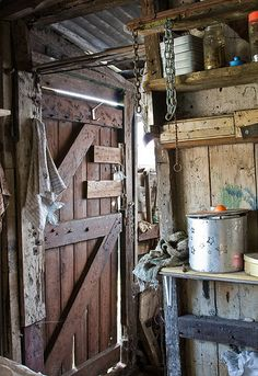 Home Ideas For > Inside Old Shed