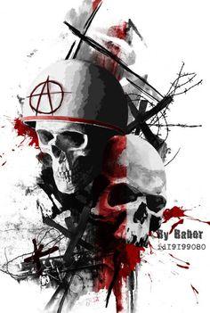 Tattoo War - tattoo's photo In the style Trash polka, Skul Sketch Tattoo Design, Skull Tattoo Design, Skull Tattoos, Body Art Tattoos, Sleeve Tattoos, Tattoo Designs, Arte Trash Polka, Trash Polka Tattoos, Tattoo Trash