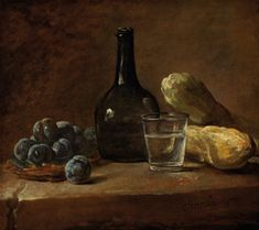 Still life with plums, a bottle and a glass of water is one of artworks by Jean Baptiste Simeon Chardin. Artwork analysis, large resolution images, user comments, interesting facts and much more. Painting Still Life, Still Life Art, Plum Paint, Inspiration Artistique, Oil On Canvas, Canvas Prints, Jean Baptiste, European Paintings, Classic Paintings