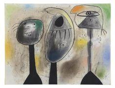 Joan Miro - Personnages dans la nuit, 1942