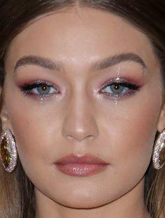 Close-up of Gigi Hadid at the 2018 Met Gala.