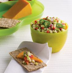 Juicy Granny Smith apples pair with spicy jalapeño and savory red onion for a gorgeous, healthy salsa