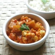 """Gobi Aloo (Indian Style Cauliflower with Potatoes)I """"This dish is FANTASTIC. I make it every time we make Indian, and even family members who won't touch cauliflower love it!"""""""