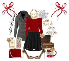"""Christmas Party & Dinner/ Gourney Christmas Wish List Contest"" by musie-della ❤ liked on Polyvore featuring moda, LE3NO, Casadei, Balmain, Casetify, Chanel, Sevil Designs, Oscar de la Renta, Apt. 9 y Natures Jewelry"