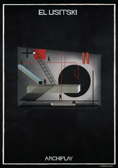 Image 15 of 29 from gallery of Federico Babina's ARCHIPLAY Illustrations Imagine Set Designs by Master Architects. Photograph by Federico Babina Stage Design, Set Design, Zaha Hadid, Composition Art, Collage Illustration, Building Art, Architecture Art, Art Gallery, Graphic Design