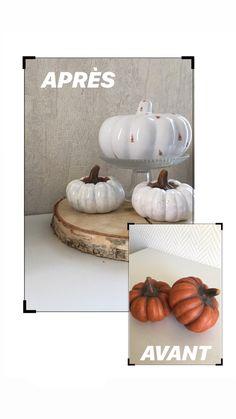 Diy simple et rapide avec uniquement de la peinture ! Une touche déco pour l'automne ou bien halloween. Création bricolage Diy Simple, Decoration, Creations, Halloween, Home Decor, Fall, Bricolage, Paint, Homemade Home Decor
