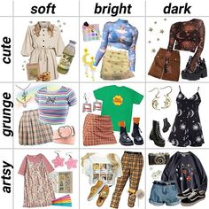 style chart niche meme - Soft girl aesthetic makeup - Source by flowerguurl styling clothes Street Style Outfits, Mode Outfits, Retro Outfits, Vintage Outfits, Girl Outfits, Fashion Outfits, Cute Grunge Outfits, Artsy Outfits, Tomboy Outfits