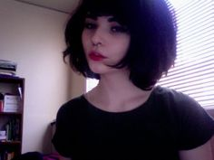 Born to blossom, bloom to perish. Kiki Reed, Hair Inspo, Hair Inspiration, Short Hair Cuts, Short Hair Styles, Good Hair Day, Dark Hair, Cute Hairstyles, Pretty People