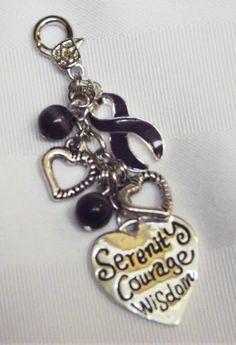 Purple awareness Serenity Courage and Wisdom Purse Pull!