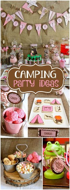 This camping party was held indoors! What a fun birthday party idea!